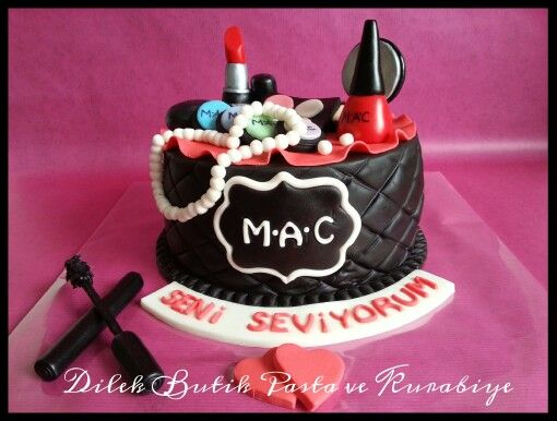 #MAC Make up Cake#Makyaj pastasi