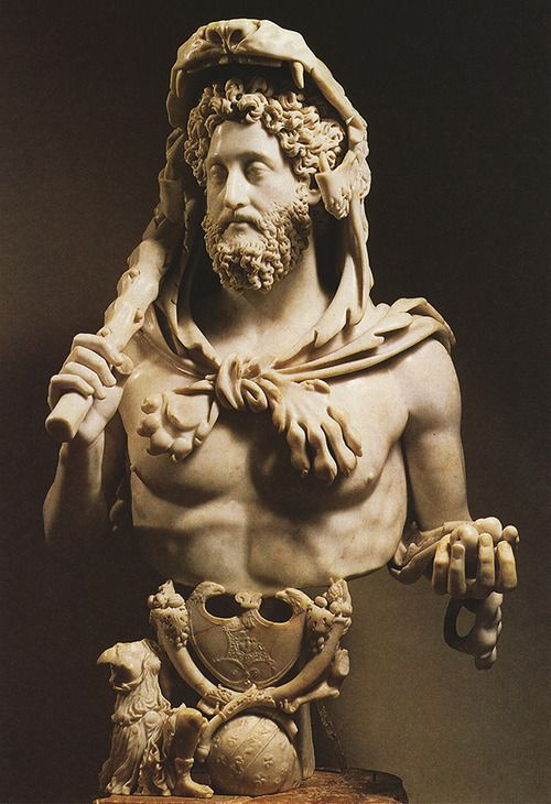 The emperor Commodus as Hercules, 2nd century A.D. Italy, Rome, Capitoline Museums, Palazzo dei Conservatori
