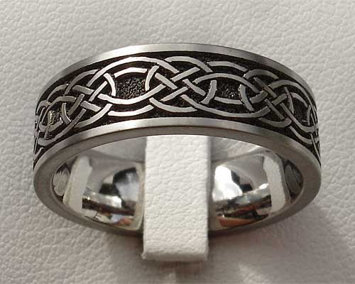 Mens Celtic Wedding Bands Titanium