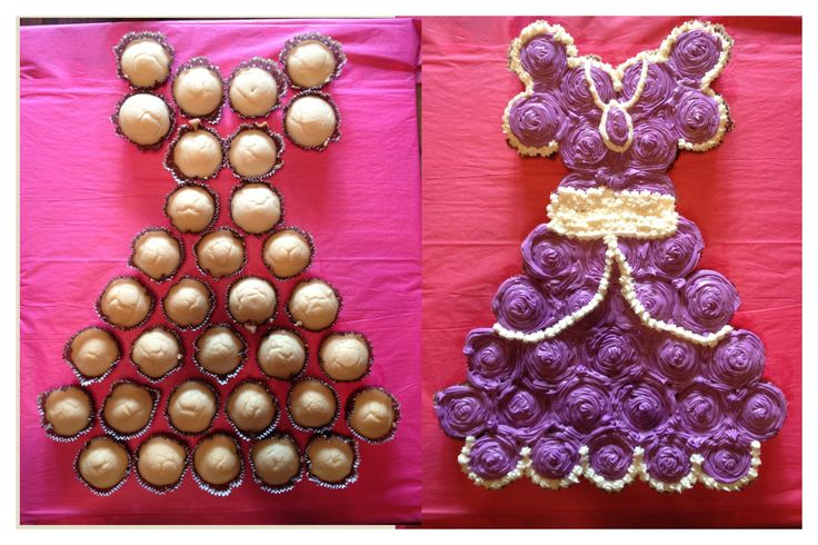 Sofia the First Birthday cake for my daughters 2nd birthday! She LOVED the cake! It turned out great!: Pull Apartment Cupcakes, Pull Apart Cupcakes, Parties Ideas, Dresses Cupcakes, Cupcake Cakes, Cupcakes Dresses, Princesses, Cupcakes Cakes, Birthday Cakes