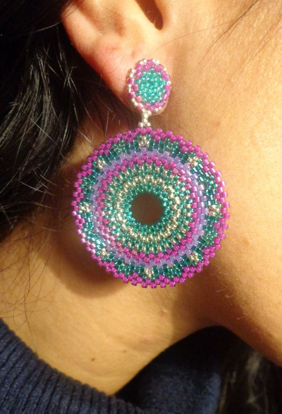 Tutorial earrings ethnic Technical circular di PatriziaBijoux