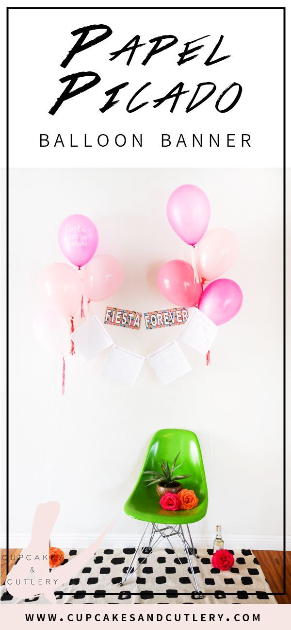 460 best party decorations images on pinterest cutlery for Balloon banner decoration