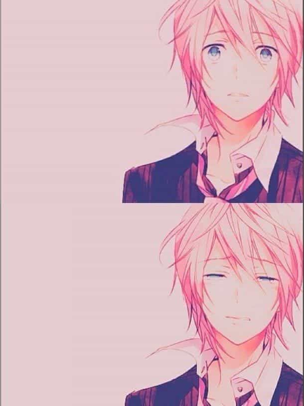 Imagem De Anime Boy And Cry Anime Red Hair Pink Hair Anime Anime Boy Crying