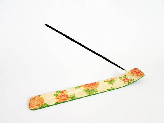 Roses incense sticks holder roses incense holder wooden