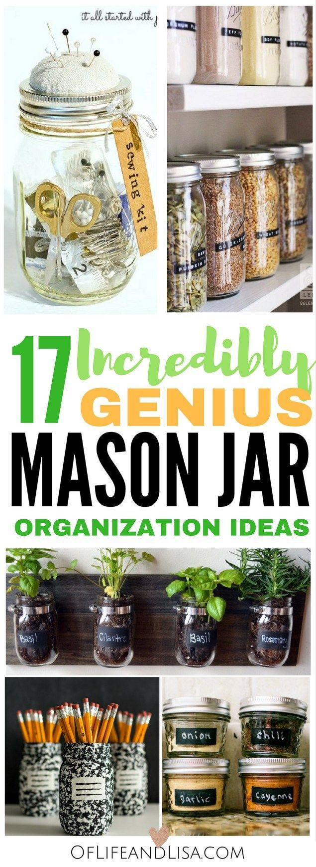 These DIY-ers share their favorite ways to organize their homes with mason jars. Check out this post to see how they do it!