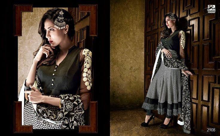 Black Designer Long Length Salwar Kameez - Salwar Suits