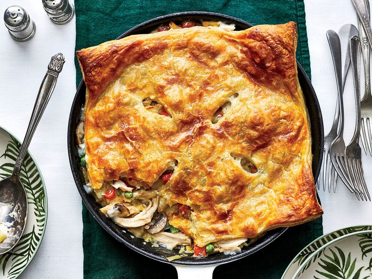 Skillet Chicken Pot Pie with Leeks and Mushrooms Recipe - Southern Living