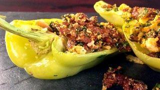 Chorizo-Stuffed Peppers Recipe | The Chew - I would do ground beef