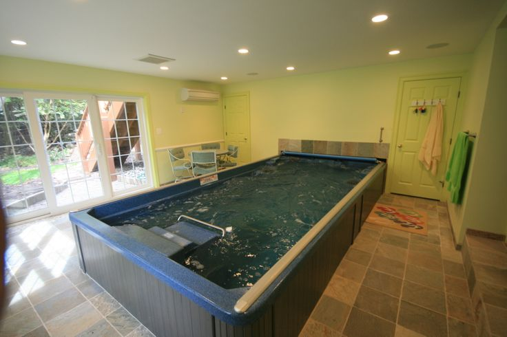 38 best endless pool images on pinterest indoor pools for Endless pool in basement