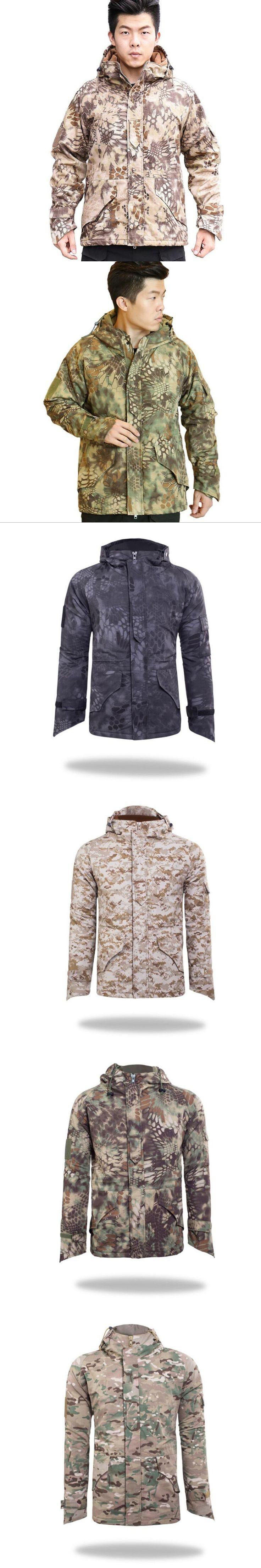 Python Softshell Jacket Men G8 Outdoors Military Tactical Jacket Men Waterproof Windproof Coat Hunt Camouflage Fleece Thickening