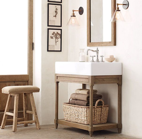Weathered Oak Single Console Sink Dream Home Pinterest Consoles Sinks And Hardware