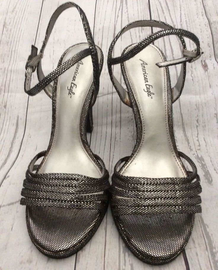Awesome American Eagle AE Women's Strappy Black/Silver High Heeled Shoes Size 8M 2017-2018 Check more at http://dressesshop.top/product/american-eagle-ae-womens-strappy-blacksilver-high-heeled-shoes-size-8m-2017-2018/
