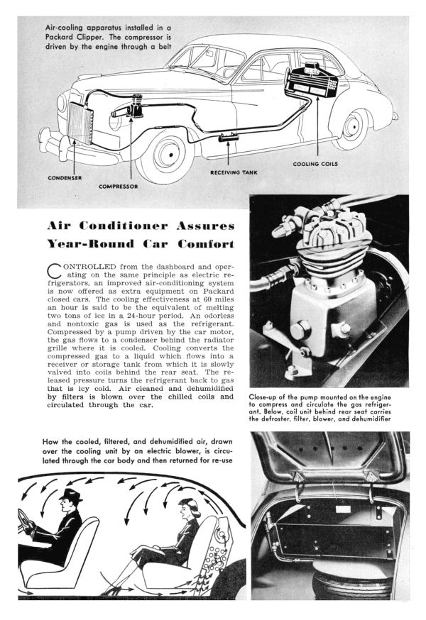 41clipperwac3 Packard, Air conditioning system, Car
