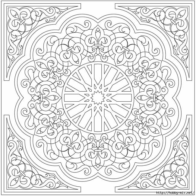 478475 023 650x648 350kb stencil pattern coloring for Arabesque style decoration