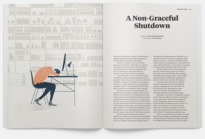 double spread of Offscreen Magazine issue no. 7