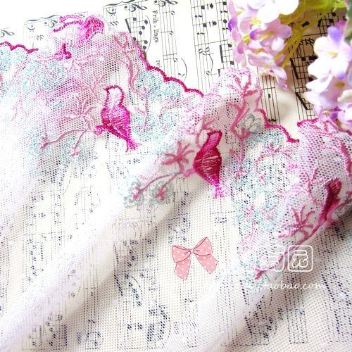 Vakkert brodert Fugler importert Grønne Blonder Bredde 16 cm bred - Taobao