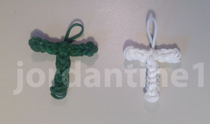 Skinny Letter T Alphabet Charm - Rainbow Loom, Crazy Loom Tutorial by Jordantine1 (Made by Mommy is also doing an Alphabet series, but they look bigger and not as defined. Check Jordantine1's YouTube channel for even more letters!~RMK)