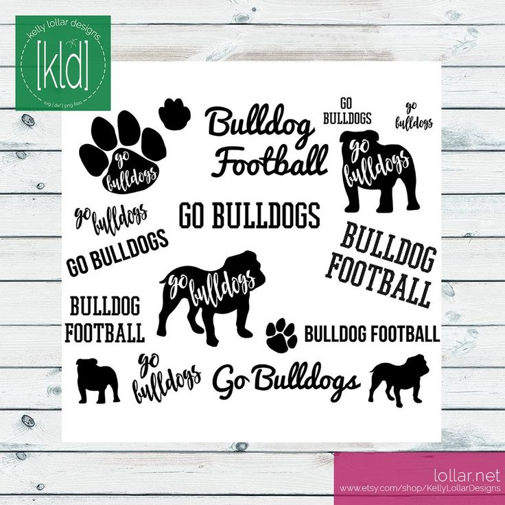 Digital Download includes SVG, DXF, JPEG, PNG and Commerical License - Bulldogs Mascot Pack #bulldogsvg #bulldogmascot #bulldogcutfile