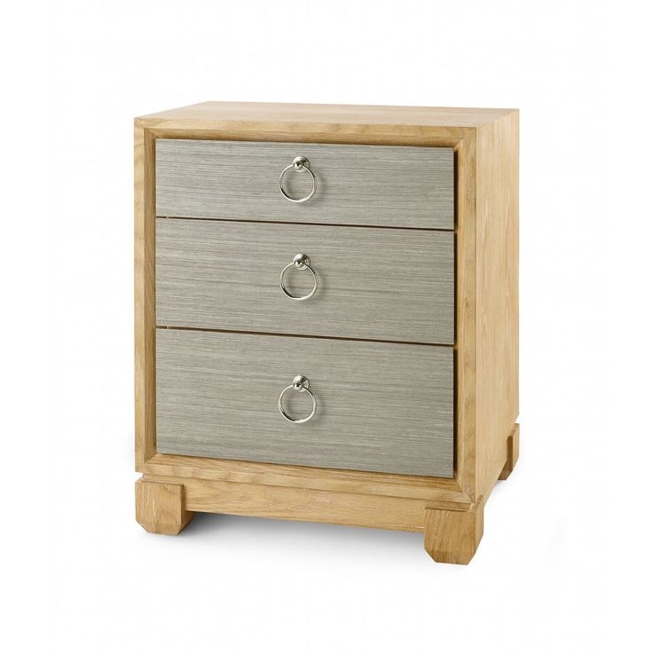 Calvin 3-Drawer Side Table, Sage Green - Bungalow 5