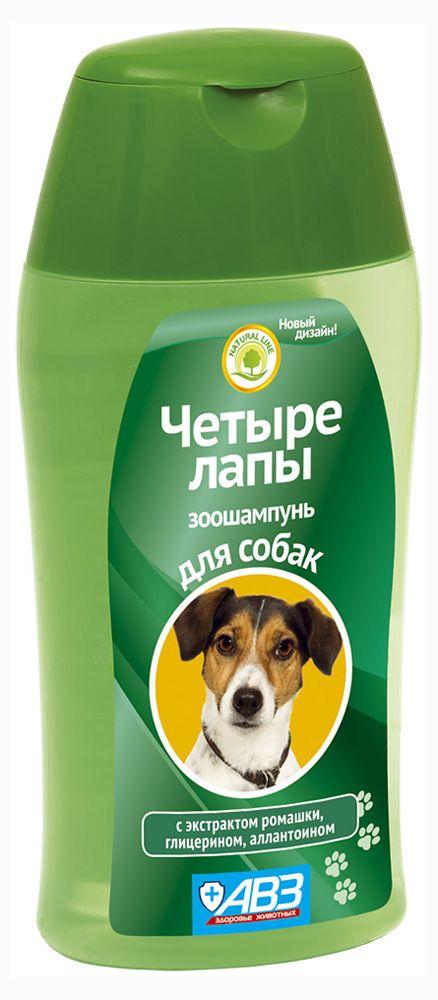 Шампунь для собак «Четыре лапы» ежедневный уход, 180 мл