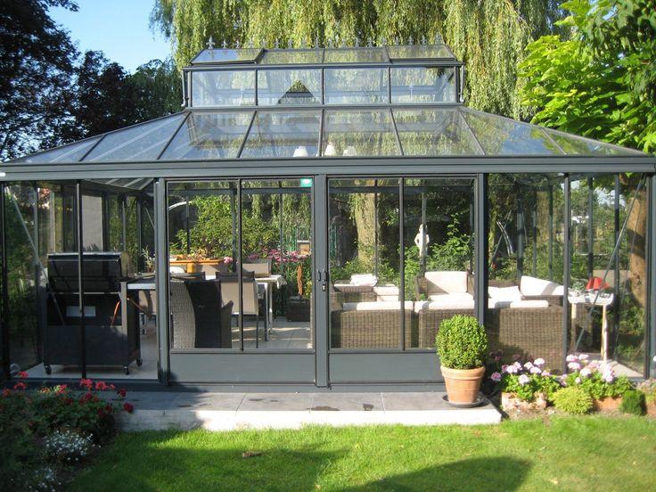Orangerie freistehend orangerien pinterest - Invernadero de cristal ...