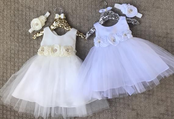eca691b4f25e2 Baptism Dress-Baby Girl Dress-Christening Dress - white Baby Girl ...