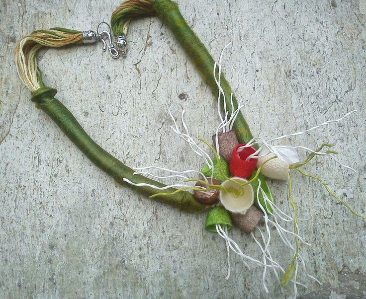 handmade silk cocoons necklace No 26