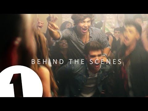 Union J take The Official Chart Show on Radio 1 behind the scenes on their brand new music video Tonight (We Live Forever).
