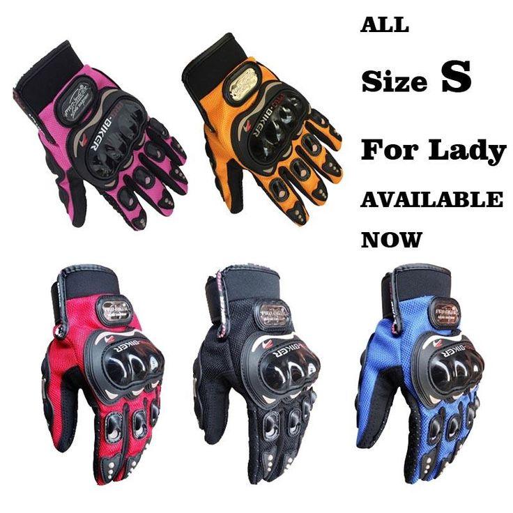 [Visit to Buy] knight full finger small size  S pink orange black  women motorcycle gloves Moto Mujer Luva Motoqueiro moto race female Gloves   #Advertisement