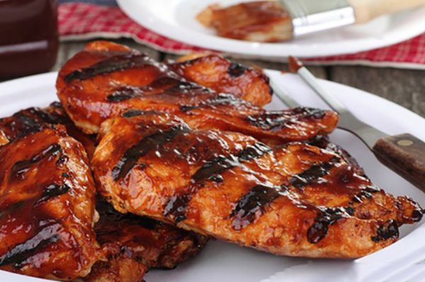 Barbecue Grilled Chicken Breasts are one of my favorite recipes this time of year!  #BBQchicken #chickenrecipes