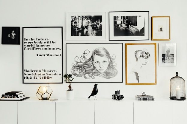 The modern monochrome Stockholm space