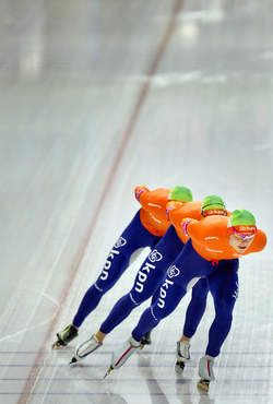 Some of the Dutch Speed Skaters... We are the best in the World!