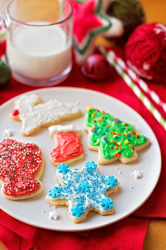 These perfect roll-out sugar cookies are thick and soft with nice crisp edges. Top them with homemade icing and a few sprinkles & they're good to go!