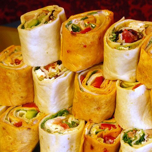 Wraps, kids party food ideas, these look really good