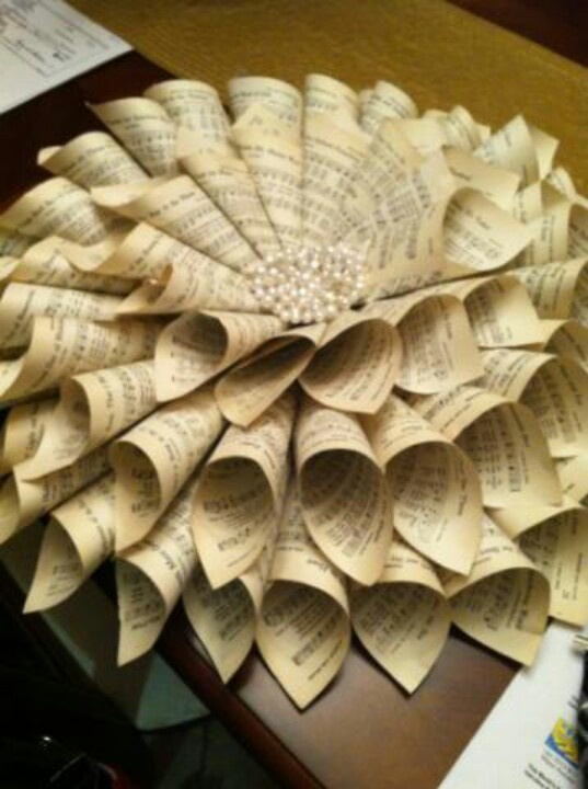 Crafts Using Hymnal Pages