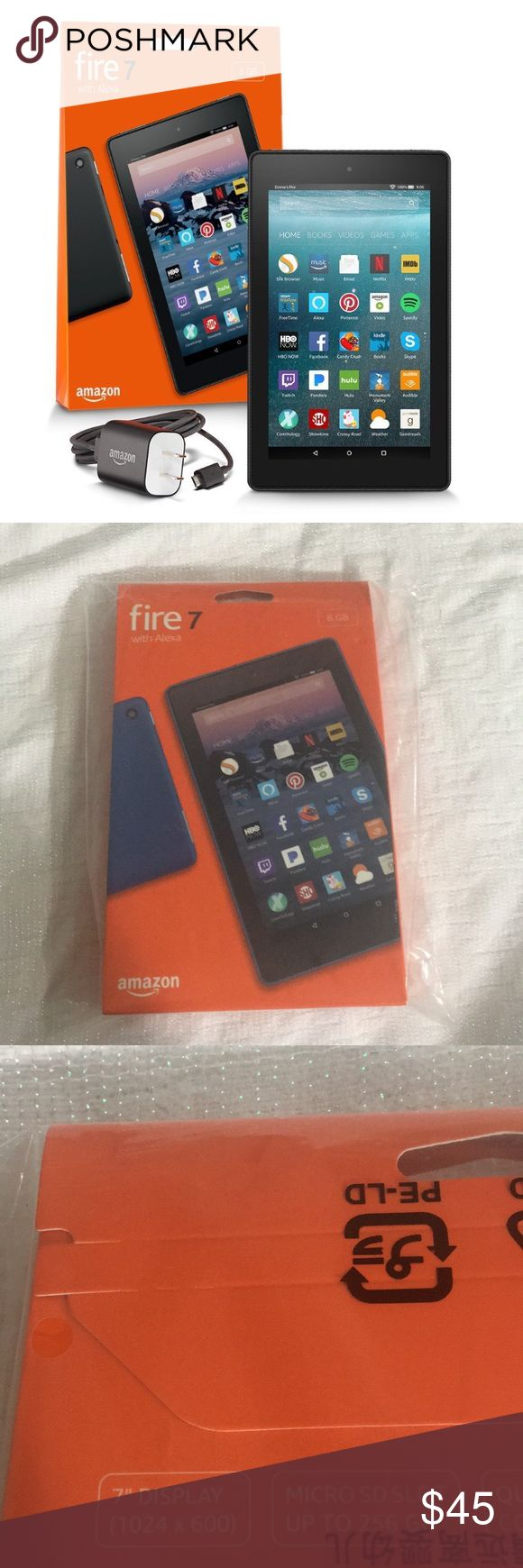 All-New Fire 7 Tablet with Alexa Ordered two by accident as a gift and never got to return the extra one. The box has never been open. Amazon Accessories Tablet Cases
