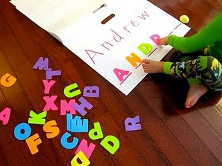 Great way to teach individual letters and name recognition