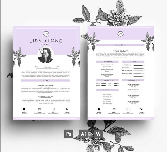 33 Best Stylish Resumes Images On Pinterest | Business Card