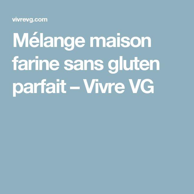 Mélange maison farine sans gluten parfait – Vivre VG
