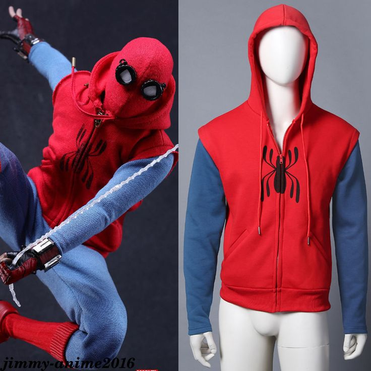 Marvel Spider-Man: Homecoming Peter Parker Coat Hoodie Sweater Cosplay Costume