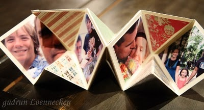Mini folding book - Makes a great Valentine!: Book Ideas, Mini Books, Mini Scrapbooks, Artists Book, Valentine, Craft Ideas