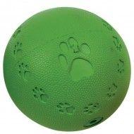Gioco palla gomma alla vaniglia addestramento cani con sonaglio interno.