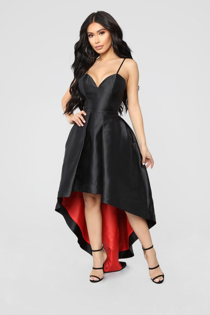 392588e185ef High Hopes High Low Dress - Black/Red in 2019 | Fashion Nova | Red ...