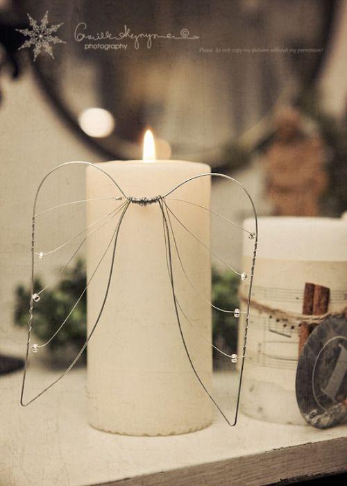 Rajouter des ailes d'anges aux bougies – Sakarton