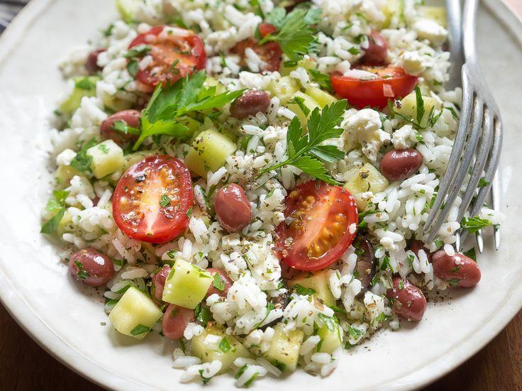 Salade de riz méditerranéenne