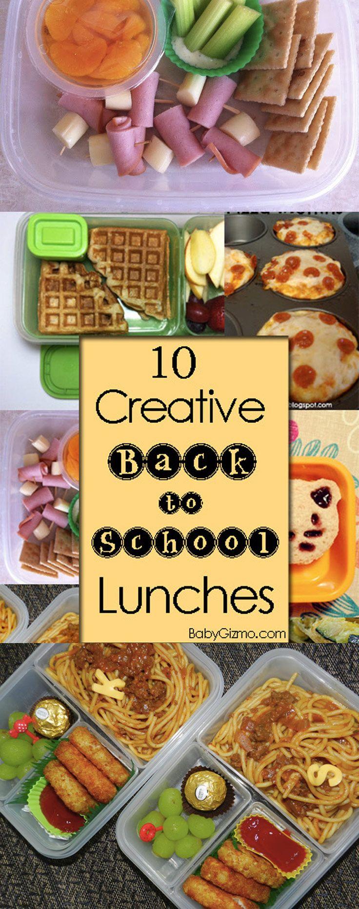 10 Creative Back to School Lunch Ideas! #bts #school #lunch #easy