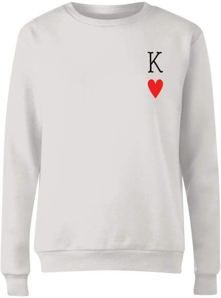 King Of Hearts Womens Sweatshirt White Same As Queen Of Hearts