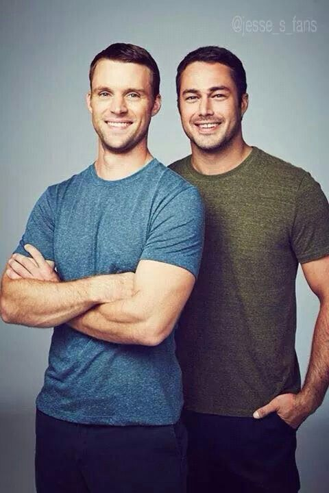 Jesse Spencer and Taylor Kinney from Chicago Fire