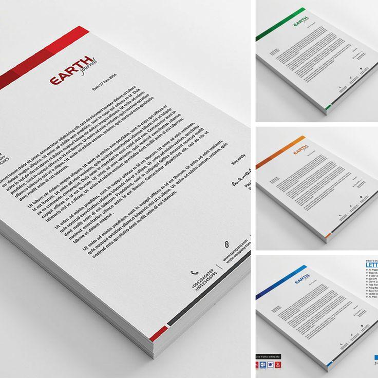 22 best Letterhead Templates images on Pinterest Print templates - corporate letterhead template