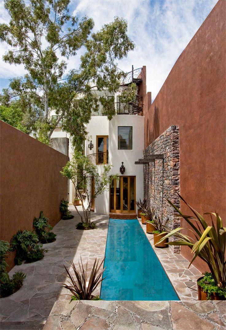 estanque en patio de casa - Ideas para decorar tu terraza según la filosofía del feng shui